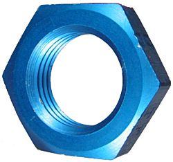 Blue Anodized Aluminum Locknuts (AN 924)